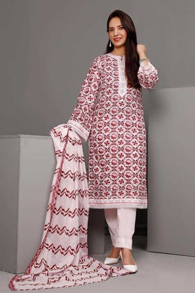 3PC Unstitched Printed Suit With Printed Lawn Dupatta CL-1103 B