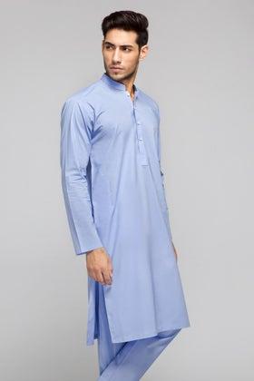Blue Unstitched Fabric COTTON CLUB