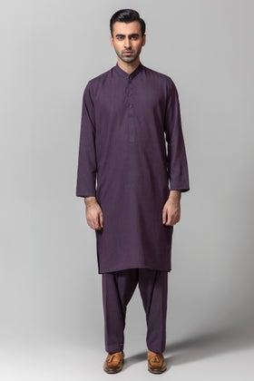 Dark Purple Gul 900 Gorgia Unstitched Fabric