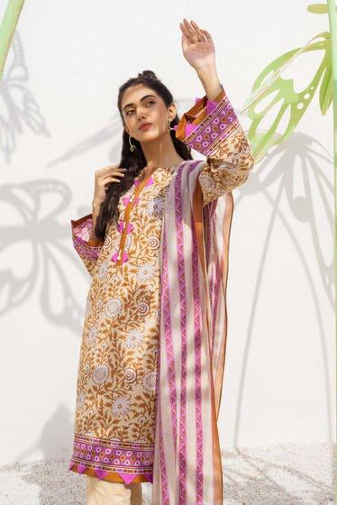 2 Piece Unstitched Lawn Printed Suit TL-353 A