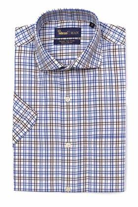 Black-&-Brown-Half-Sleeves-Shirt-CVC-YD-412