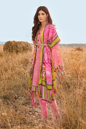 3 PC Unstitched Linen Suit with Silk Karandi Shawl KP-08