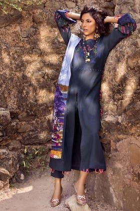 3PC Unstitched Embroidered Khaddar Suit with Digital Printed Khaddar Dupatta K-12014