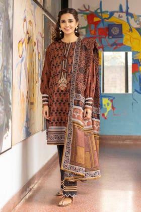 3 Piece Unstitched Lawn Printed Suit CL-1325 A