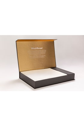 Off White Unstitched Fabric With Gift Box X-Series - Exceptional Collection Artisan