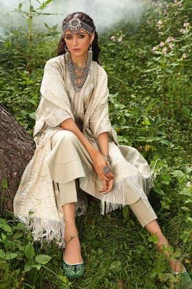 3PC Unstitched Pashmina Shawl Suit AP-12054