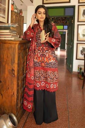 3 Piece Unstitched Lawn Printed Suit CL-1269 A