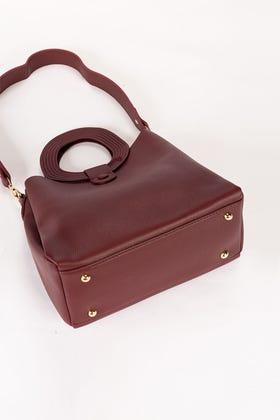 Purple Hand Bag IDB-21-106