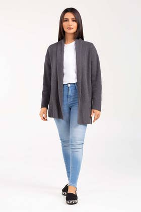 Cotton Front Open Cardigan SWT-FW21-027 A