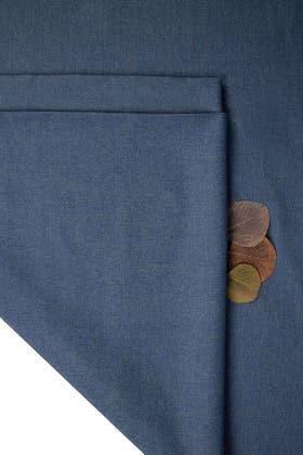 Dark Blue Unstitched Fabric Opus Flora