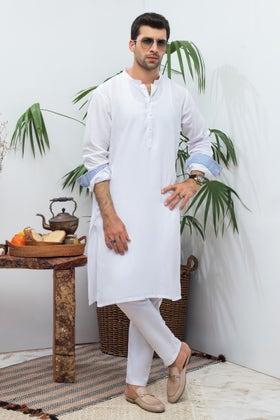 White Unstitched Fabric Irish Linen KS-808