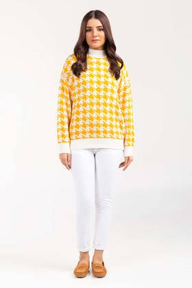 Cotton High Neck Pull Over Sweater  SWT-FW21-033 B