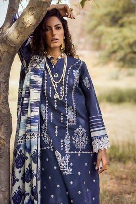 3PC Unstitched Embroidered Khaddar Suit with Digital Printed Khaddar Dupatta K-12012