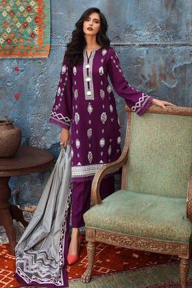 3PC Unstitched Printed Khaddar Suit K-12034 B