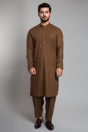 Khaki Brown Unstitched Fabric Gul 900 SweetRoom