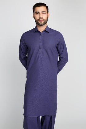 Ink Blue Unstitched Fabric Cashmere Khaddar Collection