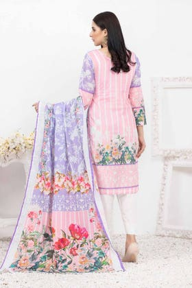 3PC Unstitched Printed Lawn Suit with Lawn Dupatta CLP-147 B