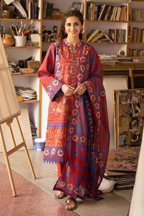 3 Piece Unstitched Lawn Printed Suit CL-1269 B