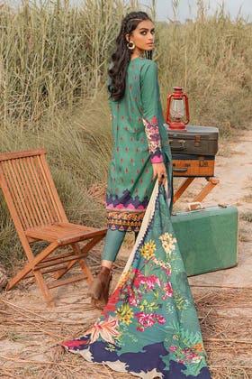 3PC Unstitched Khaddar Suit With Digital Cotton Viscose Dupatta CV-12001