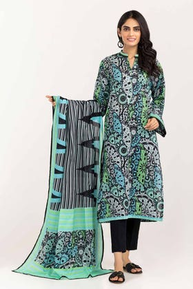 3PC Unstitched Printed Lawn Suit with Lawn Dupatta CLP-12038 B