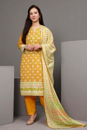 3PC Unstitched Printed Suit With Printed Lawn Dupatta CL-1082 A