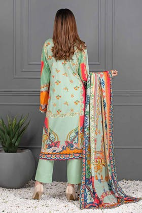 3PC Unstitched Printed Lawn Suit with Lawn Dupatta CLP-12009 B