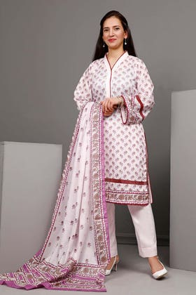 3PC Unstitched Printed Suit With Printed Lawn Dupatta CL-1100 B