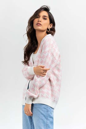 Cotton Button Down Cardigan SWT-FW21-024 B