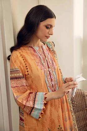 3PC Unstitched Cambric Cotton Printed Suit with Printed Lawn Dupatta CL-12502 A