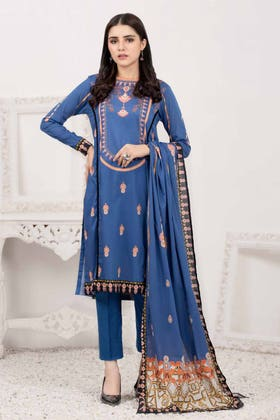 3PC Unstitched Printed Lawn Suit with Lawn Dupatta CLP-149 A