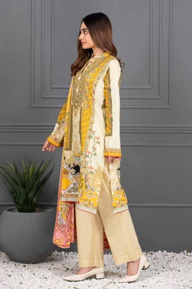 3PC Unstitched Printed Lawn Suit with Lawn Dupatta CLP-12011 B