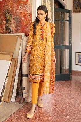 3 Piece Unstitched Lawn Printed Suit CL-1264 B