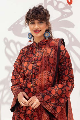 2 Piece Unstitched Lawn Printed Embroidered Suit TL-350 A