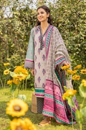 3 Piece Unstitched Lawn Printed Suit CL-1267 A