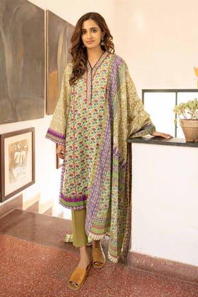 3 Piece Unstitched Lawn Printed Suit CL-1260 A