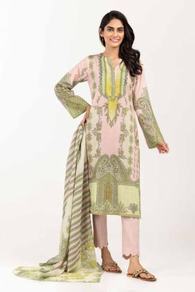 3PC Unstitched Printed Lawn Suit with Lawn Dupatta CLP-12030 A