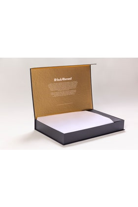 White Unstitched Fabric With Gift Box X-Series - Exclusive Collection Aquamarine