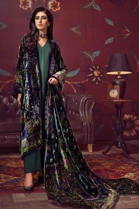 3PC Unstitched Velvet Suit With Velvet Dupatta BVL-12004 B