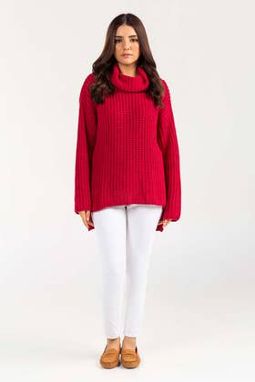 Cotton High Neck Pull Over Sweater  SWT-FW21-011 B