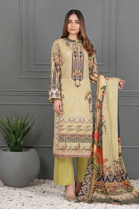 3PC Unstitched Printed Lawn Suit with Lawn Dupatta CLP-12001 A