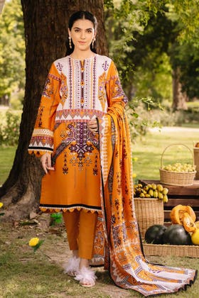 2PC Digital Embroidered Cambric Shirt With Lawn Dupatta TCE-12002
