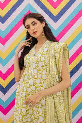 2 Piece Unstitched Lawn Printed Embroidered Suit TL-350 B