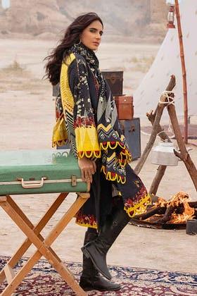 3PC Unstitched Khaddar Suit With Digital Cotton Viscose Dupatta CV-12004