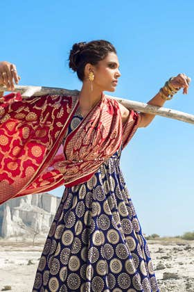 3PC Unstitched Embroidered Jacquard Suit MJ-56