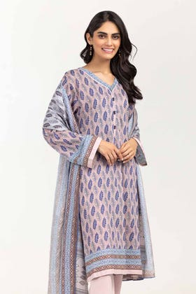 3PC Unstitched Printed Lawn Suit with Lawn Dupatta CLP-12036 A
