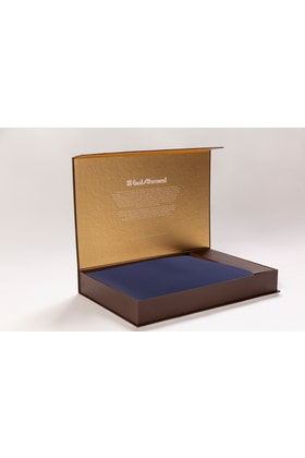 Ink Blue Unstitched Fabric With Gift Box X-Series - Executive Collection Emerald