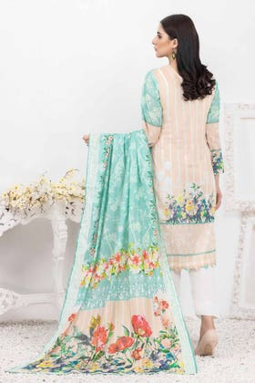 3PC Unstitched Printed Lawn Suit with Lawn Dupatta CLP-147 A