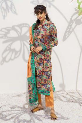 2 Piece Unstitched Lawn Printed Suit TL-311 B