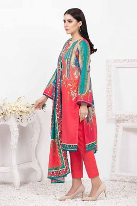 3PC Unstitched Printed Lawn Suit with Lawn Dupatta CLP-146 B