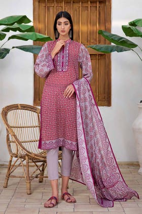 3PC Unstitched Printed Lawn Suit with Lawn Dupatta CLP-145 B